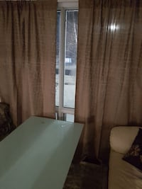 Curtains with honey comb pattern