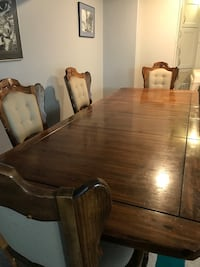 brown wooden dining table set Edmonton, T6B 0K9