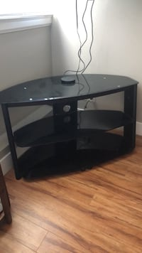 Black glass TV/entertainment stand Port Moody, V3H 2Y4