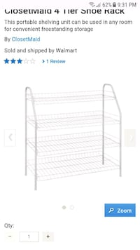 white metal 3-layer rack screenshot Vaughan, L4H