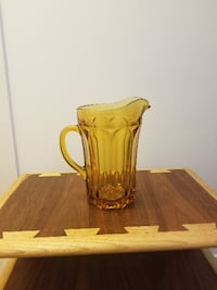 Vintage Glass Beer Pitcher Alexandria