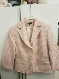 white and  pink striped suit jacket Coquitlam