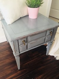 rectangular gray wooden side table Calgary, T2A
