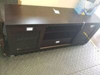 black wooden TV stand with cabinet Fort Wayne, 46808