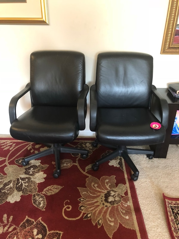 black leather office rolling price for both