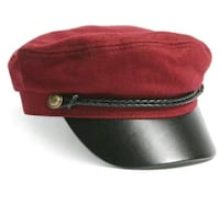Maroon Military Style Hat Toronto