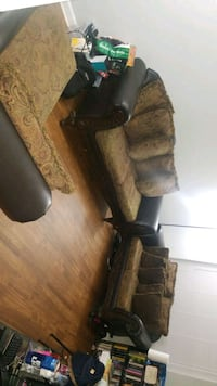 3 Piece Brown Leather Couch Set