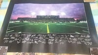 signed poster of football field