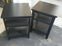 two black wooden side tables Grove City, 43123