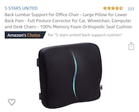 Brand New, Back Lumbar Support for Chair