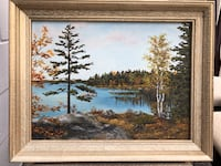 Oil Painting Hall's Lake by Mary McCallum, 1976 Toronto, M2J 2C2