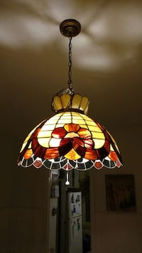 Stained glass chandelier Lansdale