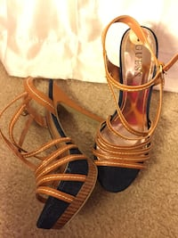pair of brown leather open-toe sandals McDonough, 30253