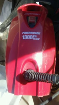 red and black pressure washer 2474 km