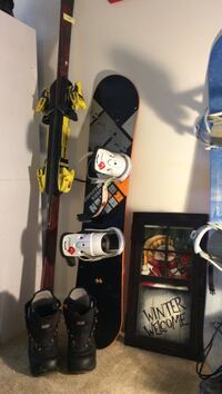 Burton snow board, bindings and boots size 6 and skies. Pls check my other items! Alexandria, 22312