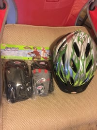 Child helmet,gloves and knee pads