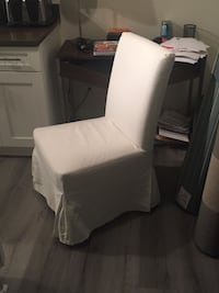 White cotton slip cover chair ikea Philadelphia, 19143