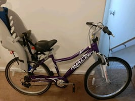2 Kent Shimano bicycles comfort 2.6 series with child seats
