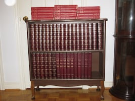 FREE BOOKCASE WITH ENCYCLOPEDIA BOOKS