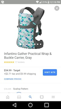 Barely used baby carrier Oceano, 93445