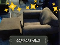 Lounge chair includes pillows an stool Sanger, 93657