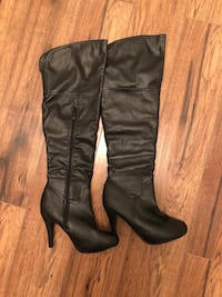 Black knee high boots size 7 London