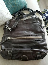 Chocolate Brown Luxe Roots Italian Leather Purse Toronto, M6H 3W5