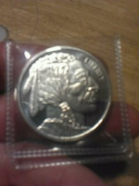 round silver-colored Indian head coin pack Centralia, 98531
