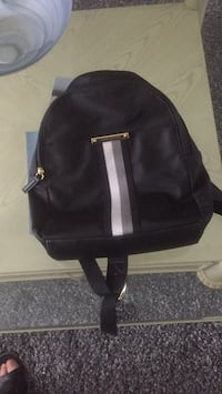 black leather 2-way bag Toronto, M9M 1L3