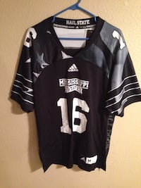 Mississippi State Bulldogs Men's medium black Jersey nwt $65 by adidas Cathedral City, 92234