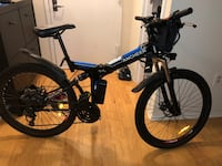 blue and black Mongoose BMX bike 39 km