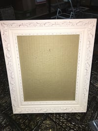 """White ornate wooden picture frame, 8"""" by 10"""" Winfield, 60190"""