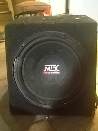 black MTX Audio subwoofer speaker