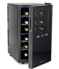 Wine Enthusiast 18-Bottle Dual Zone Silent Touchscreen Wine Cooler