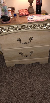 brown wooden 2-drawer nightstand Pikesville, 21215