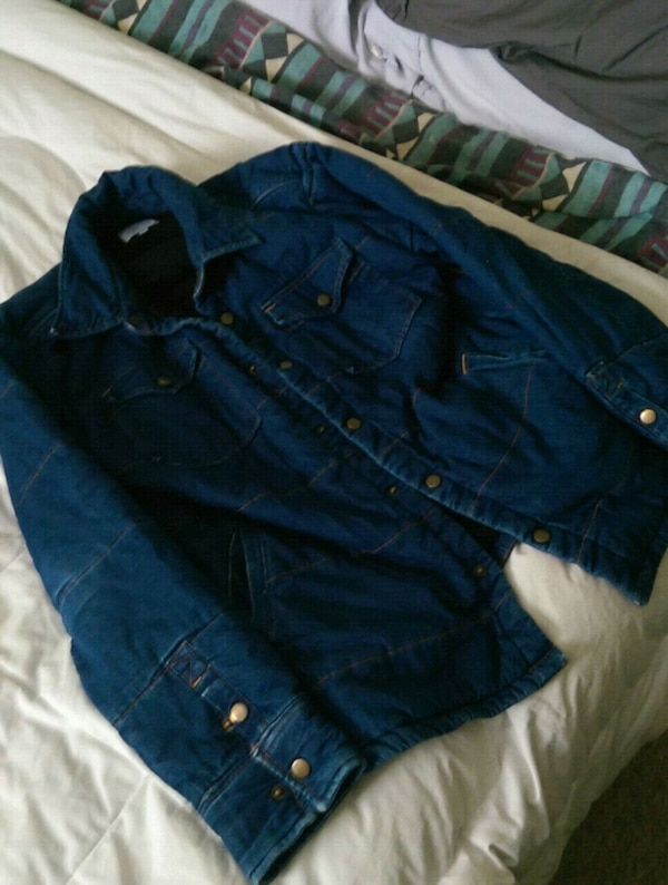 blue button-up jacket jean jacket ekumenik