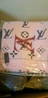 PINK LV LOUIS VUITTON SCARF FOR SALE $80