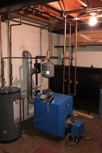 Buderus oil boiler , tank and water heater
