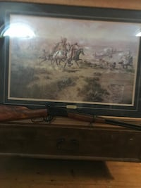 Western painting by Charles m. Russell The attack On The Wagon Train Las Vegas, 89108
