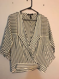 BCBG Striped Blouse