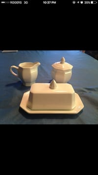 Butter Dish, Creamer & Sugar Bowl new Welland