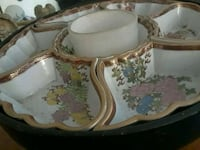 white and green floral ceramic tea set College Park, 20740