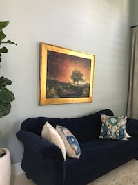 brown wooden framed painting of trees Burbank, 91504