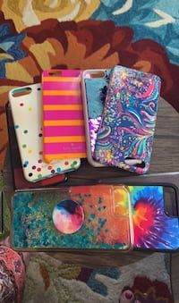I phone 8 plus  covers, 4 for $25, all for $45 Boston, 02135