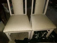 two white wooden framed gray padded chairs Columbus, 31903