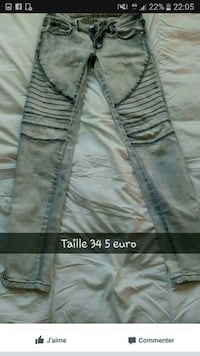 Pantalon bleu denim pantalon Metz, 57000