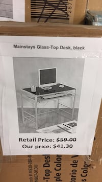 mainstays glass top desk black San Leandro, 94579