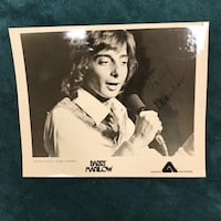 Autographed Barry Manilow photo