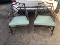 Two outdoor living wooden chairs Alexandria, 22306