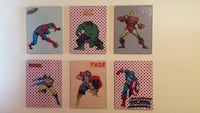"Six 8 1/2""X11"" superhero wall pictures Brentwood, 37027"